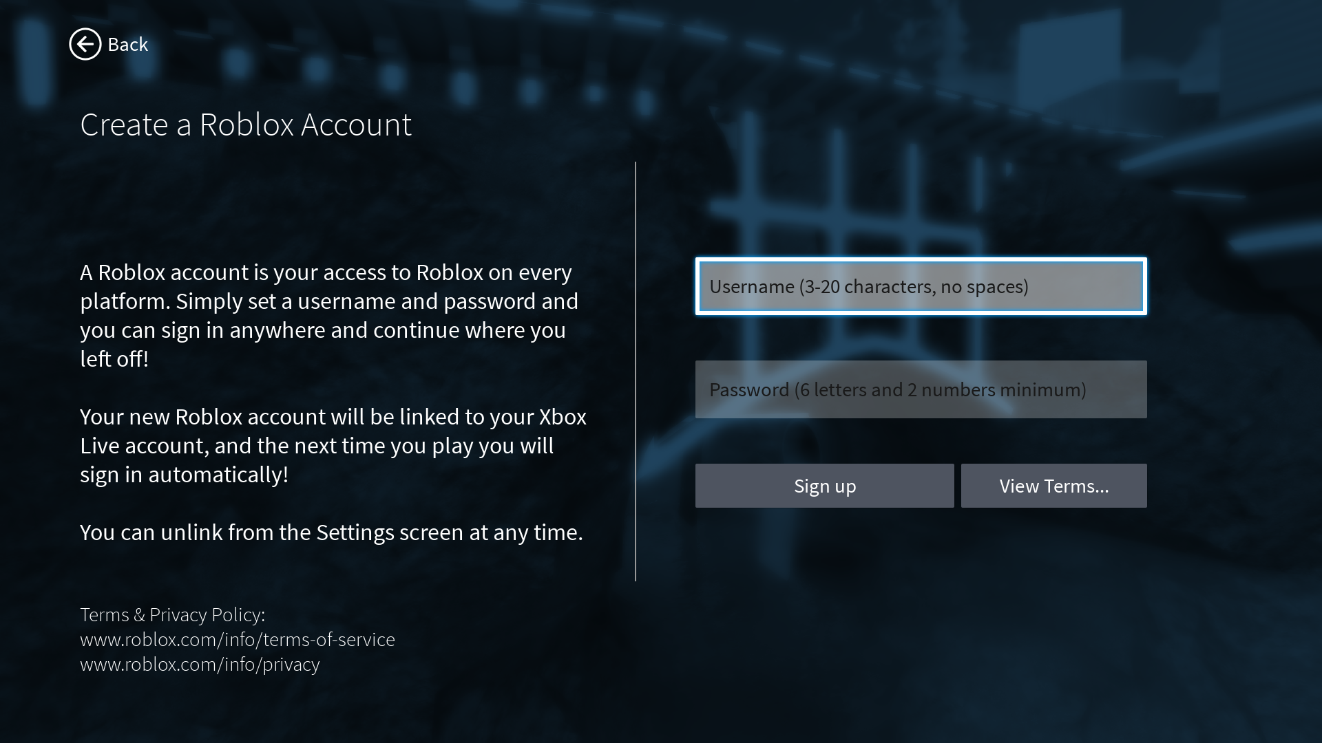 Roblox Xbox One Unlink Account